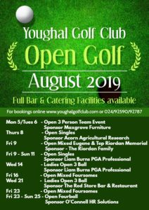 August 2019 Open Golf